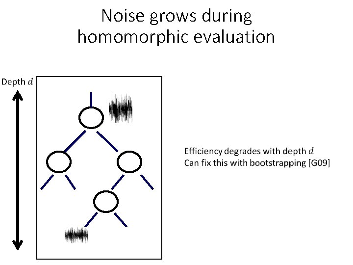 Noise grows during homomorphic evaluation