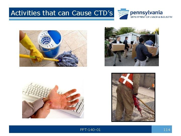 Activities that can Cause CTD's PPT-140 -01 114