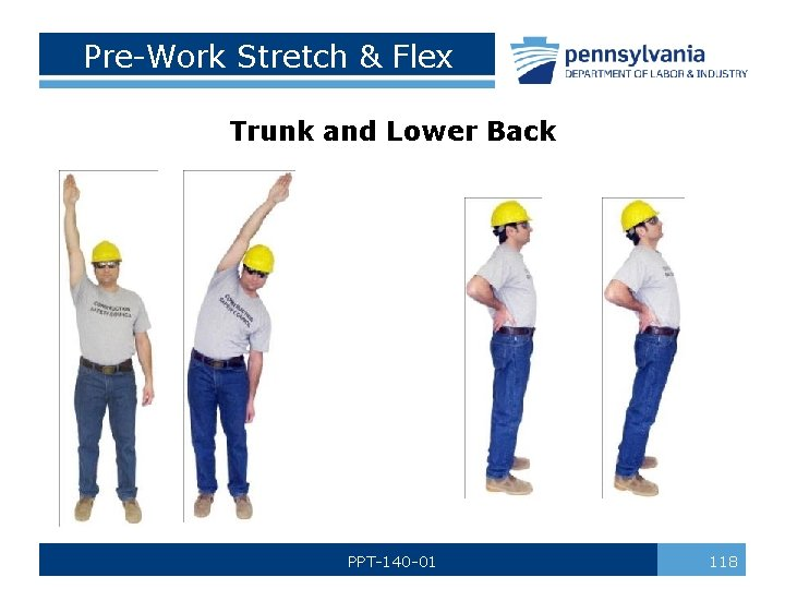 Pre-Work Stretch & Flex Trunk and Lower Back PPT-140 -01 118