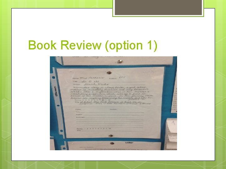 Book Review (option 1)