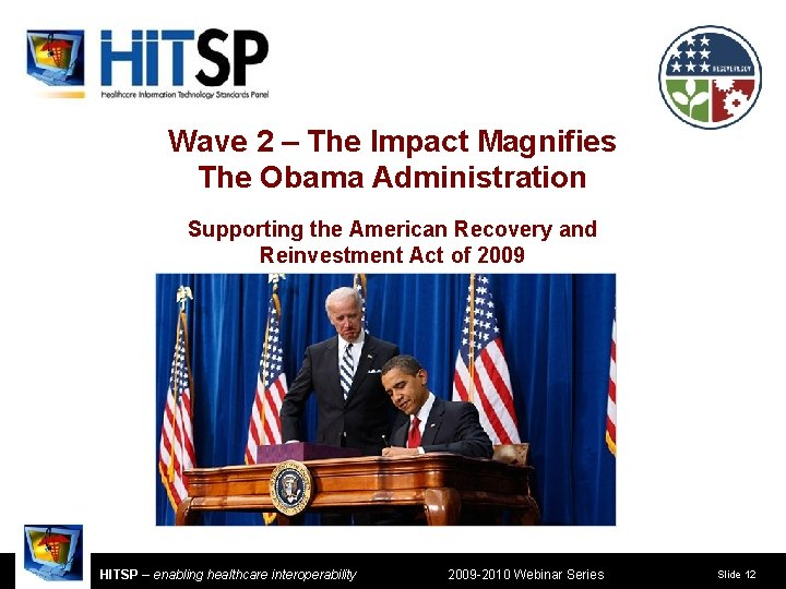 Wave 2 – The Impact Magnifies The Obama Administration Supporting the American Recovery and