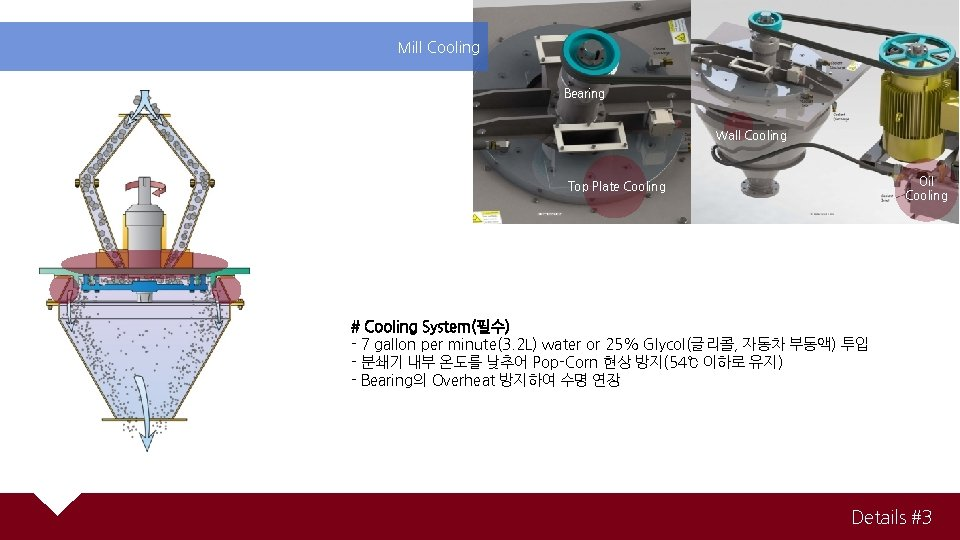 Mill Cooling Bearing Wall Cooling Oil Cooling Top Plate Cooling # Cooling System(필수) -