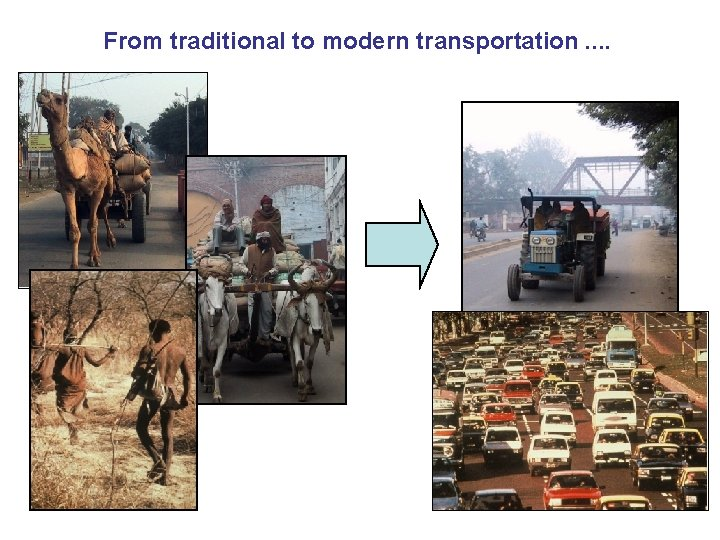 From traditional to modern transportation. .