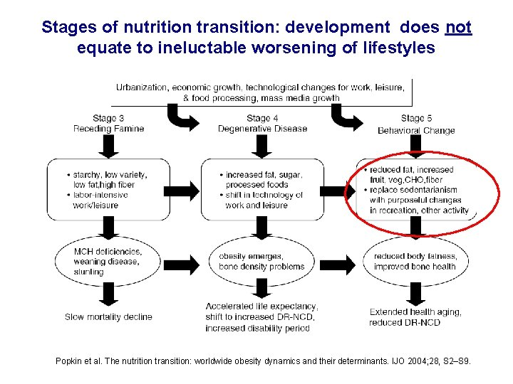 Stages of nutrition transition: development does not equate to ineluctable worsening of lifestyles Popkin