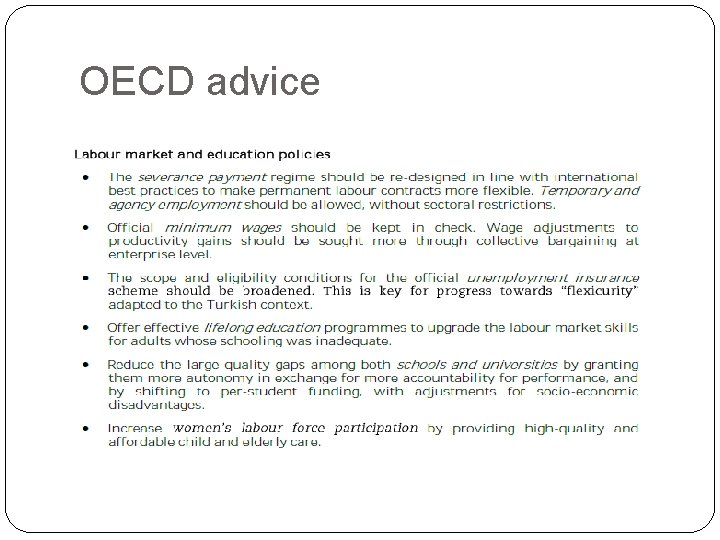 OECD advice