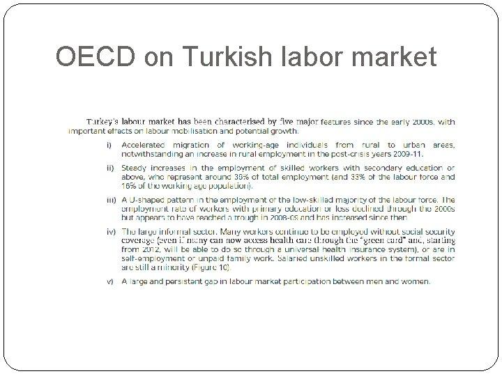 OECD on Turkish labor market