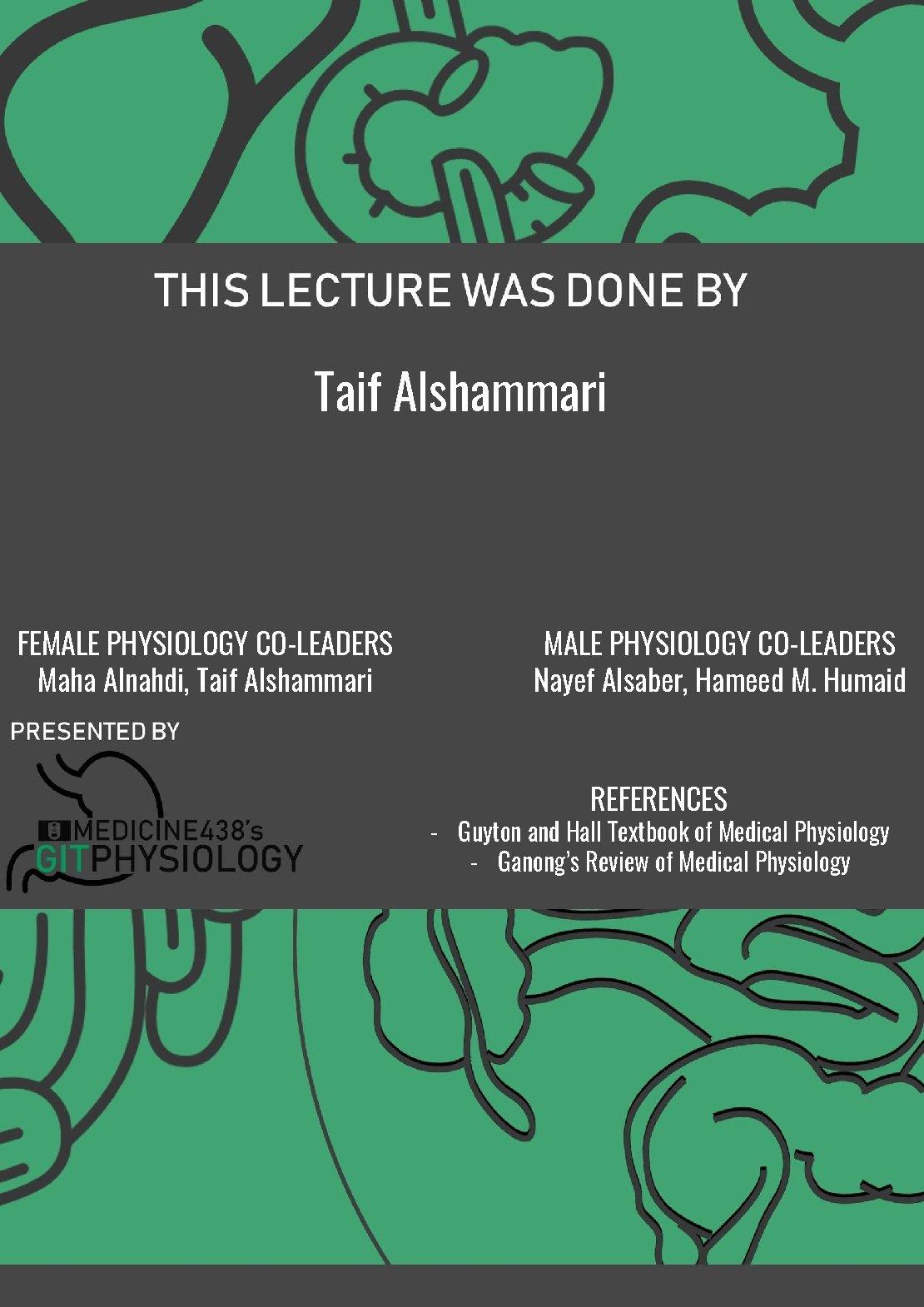 Taif Alshammari FEMALE PHYSIOLOGY CO-LEADERS Maha Alnahdi, Taif Alshammari MALE PHYSIOLOGY CO-LEADERS Nayef Alsaber,
