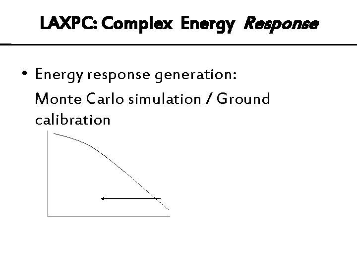 LAXPC: Complex Energy Response • Energy response generation: Monte Carlo simulation / Ground calibration