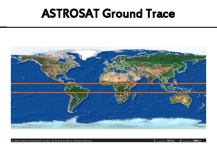 ASTROSAT Ground Trace
