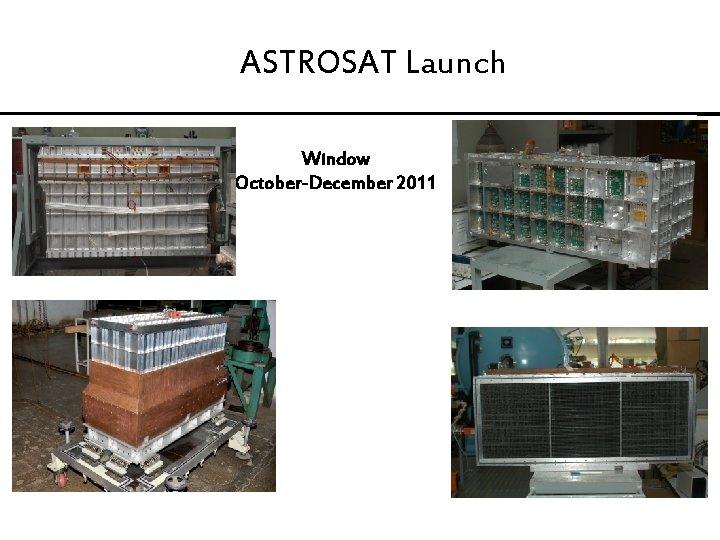 ASTROSAT Launch Window October-December 2011
