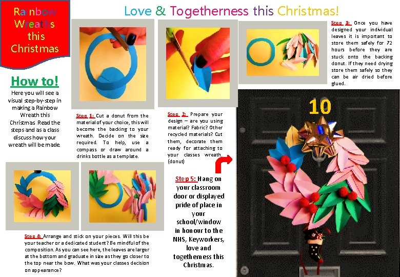 Rainbow Wreaths this Christmas Love & Togetherness this Christmas! Step 3: Once you have