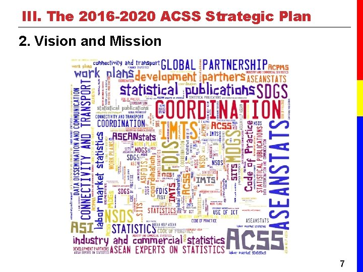 III. The 2016 -2020 ACSS Strategic Plan 2. Vision and Mission 7