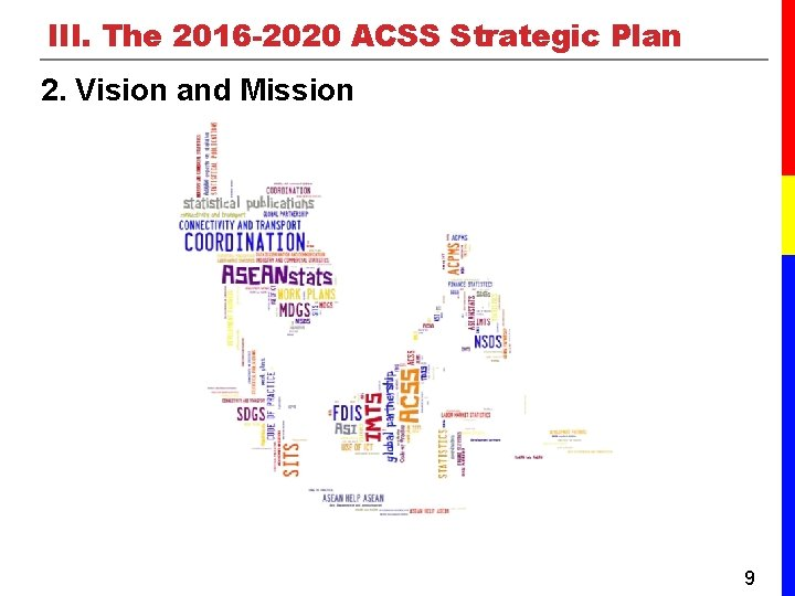 III. The 2016 -2020 ACSS Strategic Plan 2. Vision and Mission 9