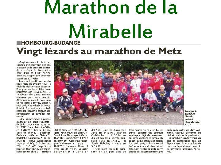 Marathon de la Mirabelle