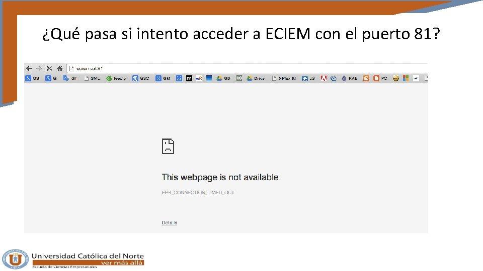 ¿Qué pasa si intento acceder a ECIEM con el puerto 81?