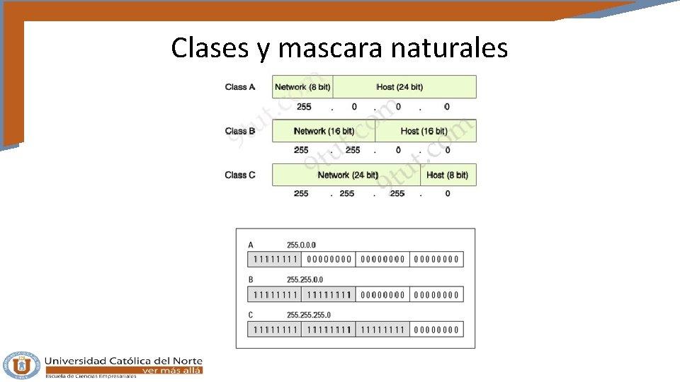 Clases y mascara naturales