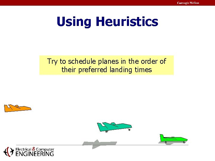 Using Heuristics Try to schedule planes in the order of their preferred landing times