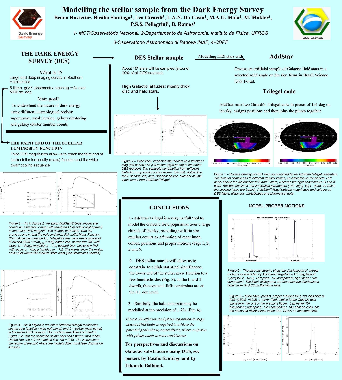Modelling the stellar sample from the Dark Energy Survey Bruno Rossetto 1, Basílio Santiago