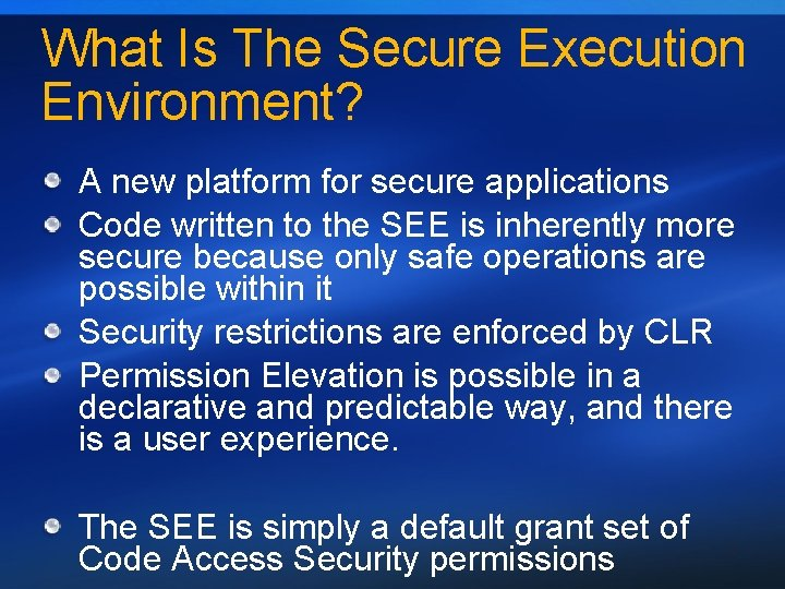 What Is The Secure Execution Environment? A new platform for secure applications Code written