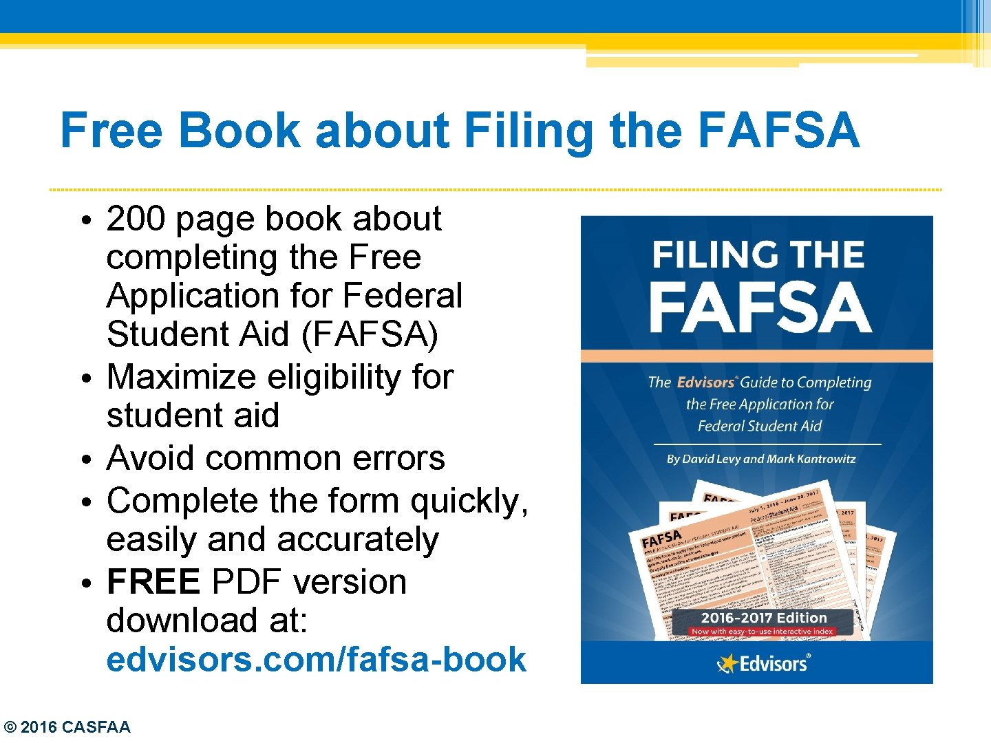 Free Book about Filing the FAFSA • 200 page book about completing the Free