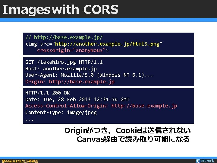 """Images with CORS // http: //base. example. jp/ <img src=""""http: //another. example. jp/html 5."""