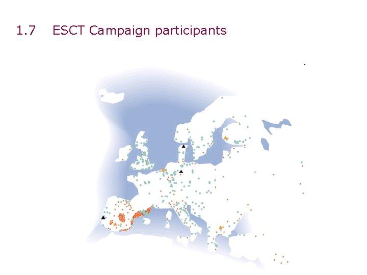 1. 7 ESCT Campaign participants