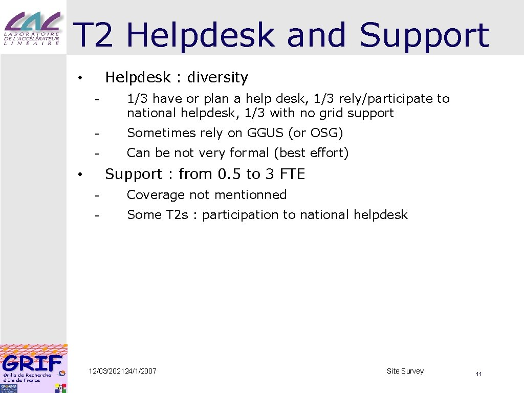 T 2 Helpdesk and Support Helpdesk : diversity • - 1/3 have or plan
