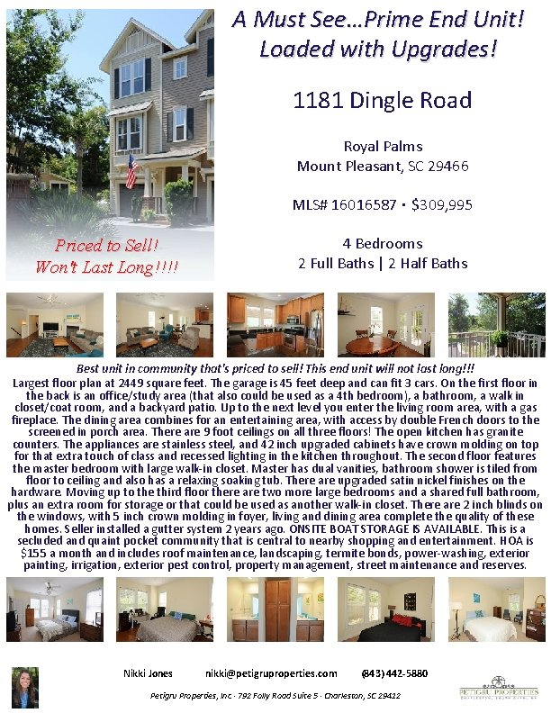 A Must See…Prime End Unit! Loaded with Upgrades! 1181 Dingle Road Royal Palms Mount