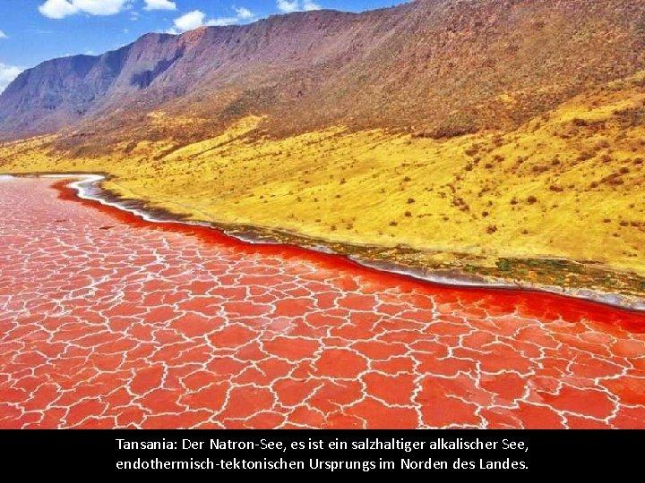 Tansania: Der Natron-See, es ist ein salzhaltiger alkalischer See, endothermisch-tektonischen Ursprungs im Norden des