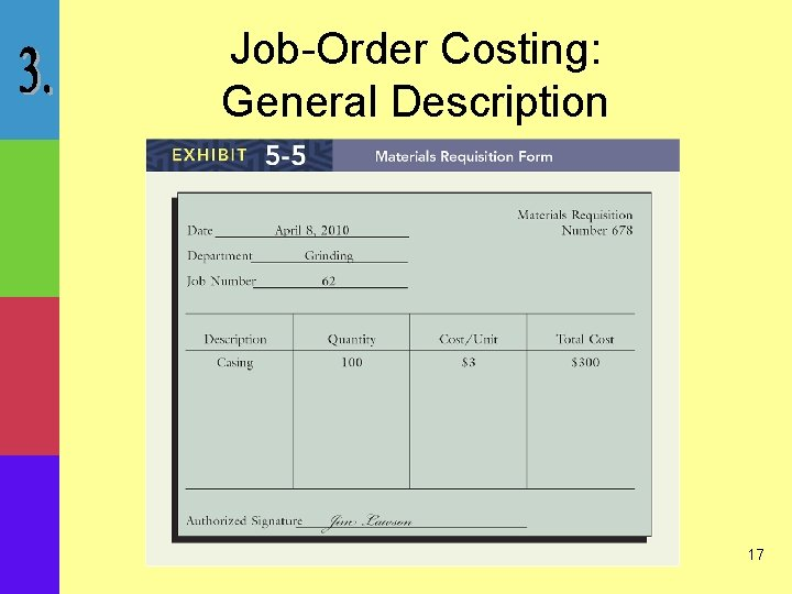 Job-Order Costing: General Description 17