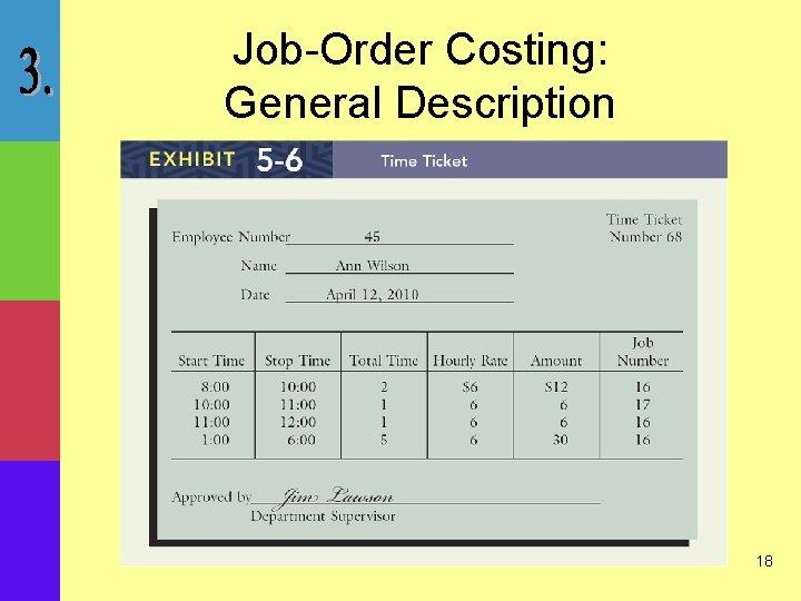 Job-Order Costing: General Description 18