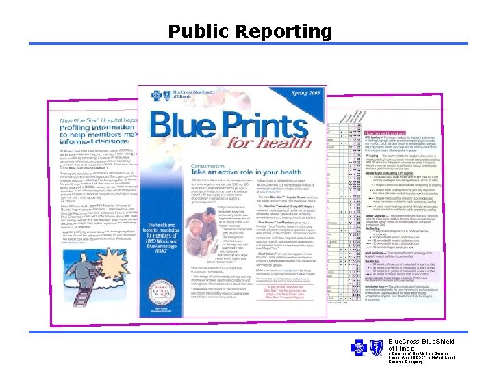 Public Reporting Blue. Cross Blue. Shield of Illinois a Division of Health Care Service