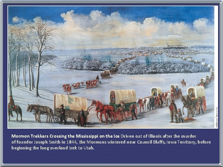 Mormon Trekkers Crossing the Mississippi on the Ice Driven out of Illinois after the