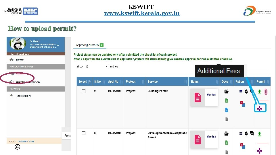KSWIFT www. kswift. kerala. gov. in How to upload permit? History of reply New