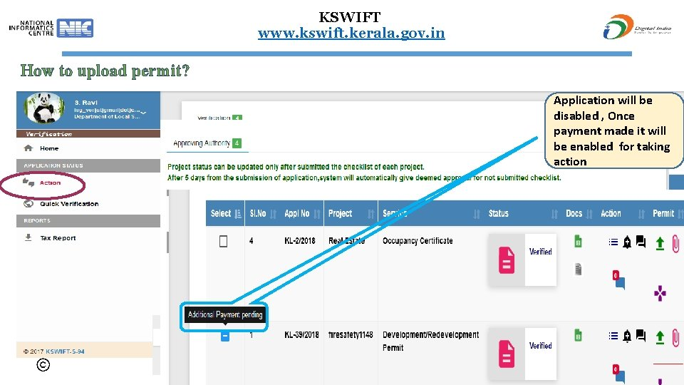 KSWIFT www. kswift. kerala. gov. in How to upload permit? New Clarification Send reply