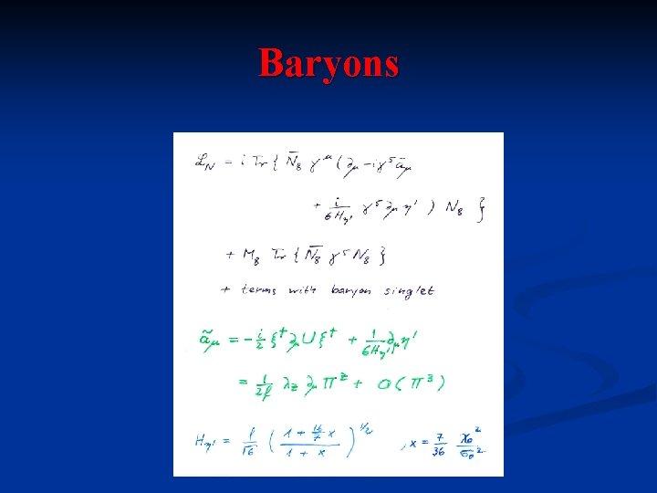 Baryons