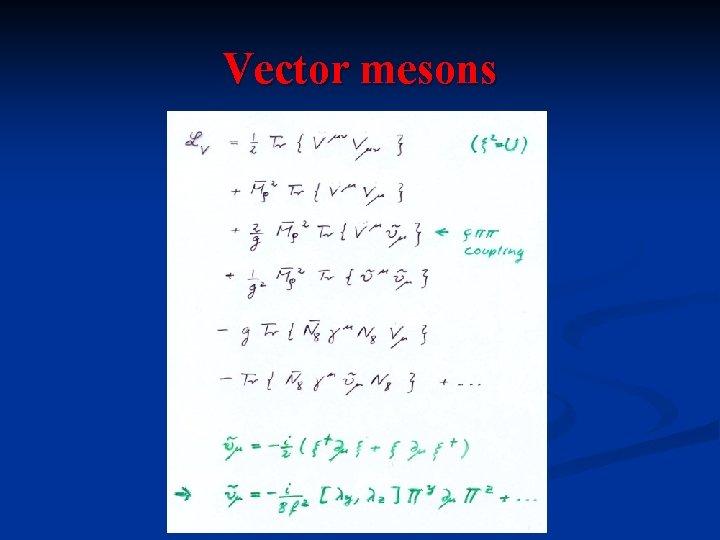 Vector mesons