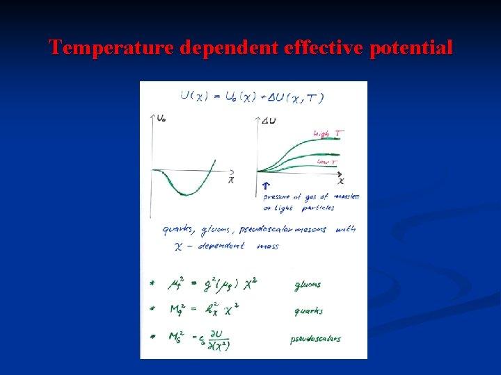 Temperature dependent effective potential