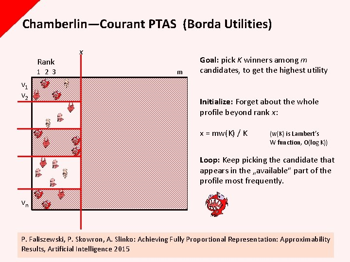 Chamberlin—Courant PTAS (Borda Utilities) Rank x 1 2 3 m v 1 v 2