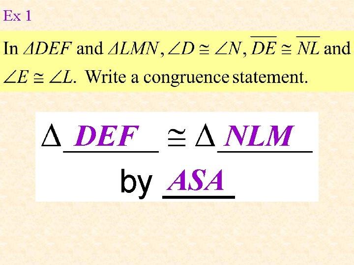 Ex 1 DEF NLM ASA by ____