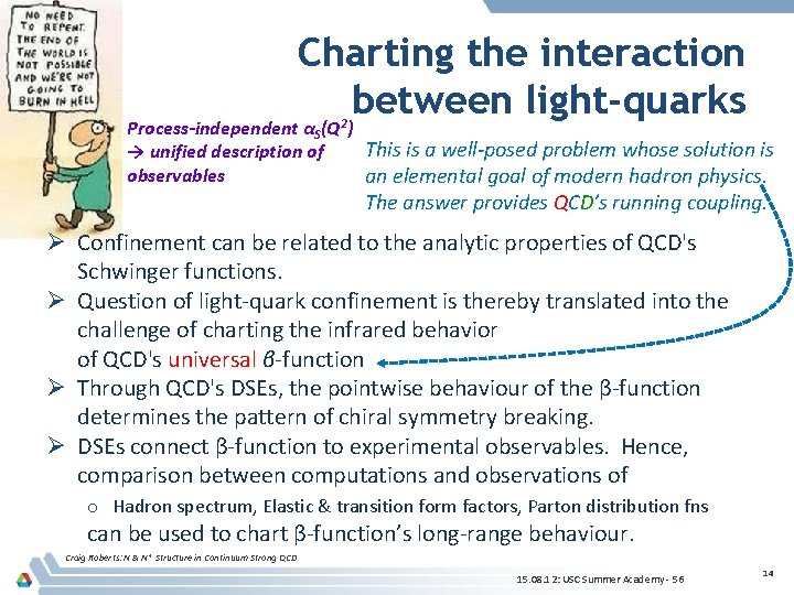 Charting the interaction between light-quarks Process-independent αS(Q 2) This is a well-posed problem whose
