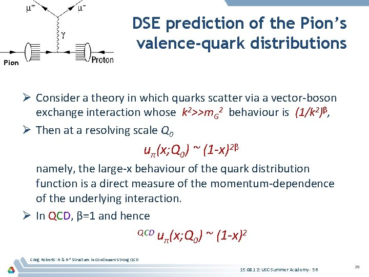 DSE prediction of the Pion's valence-quark distributions Pion Ø Consider a theory in which