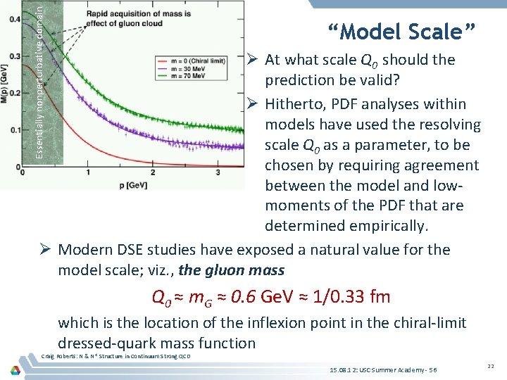 "Essentially nonperturbative domain Pion ""Model Scale"" Ø At what scale Q 0 should the"