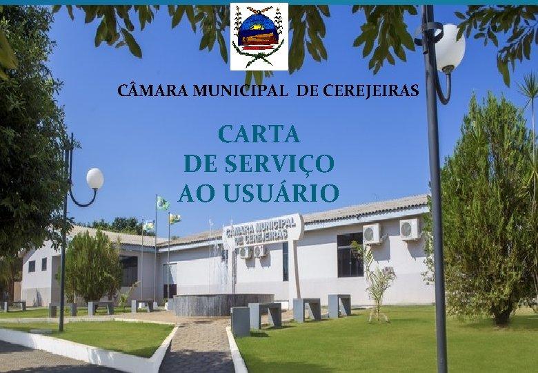 C MARA MUNICIPAL DE CEREJEIRAS CARTA DE SERVIÇO AO USUÁRIO