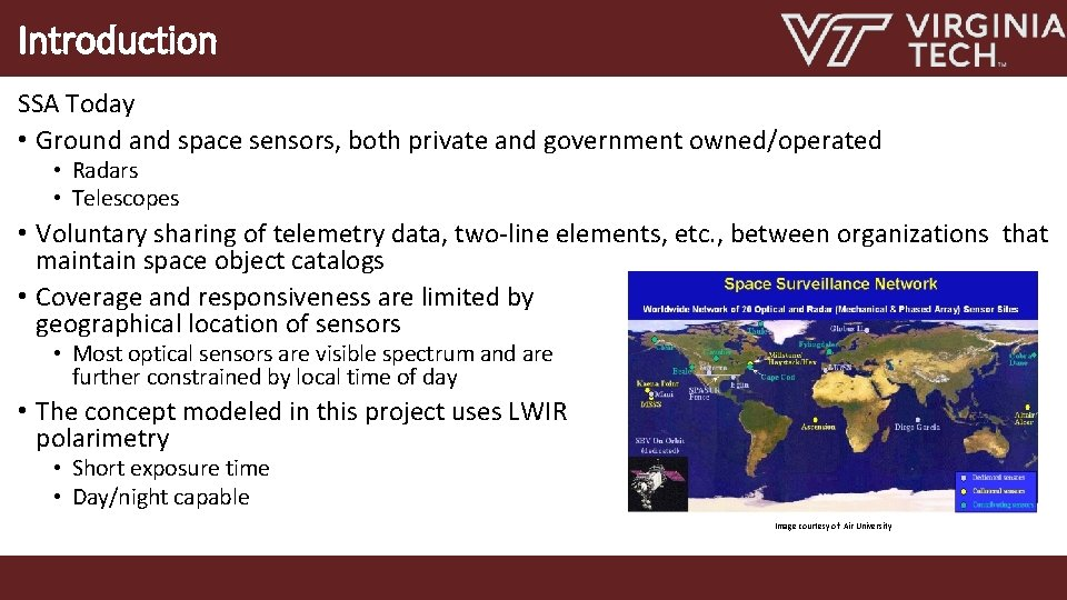 Introduction SSA Today • Ground and space sensors, both private and government owned/operated •