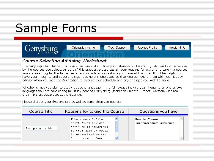 Sample Forms