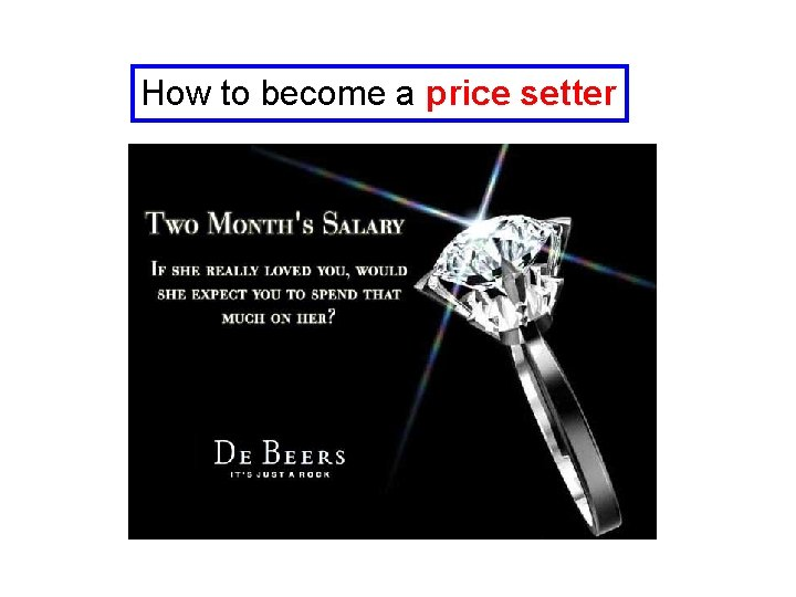 How to become a price setter