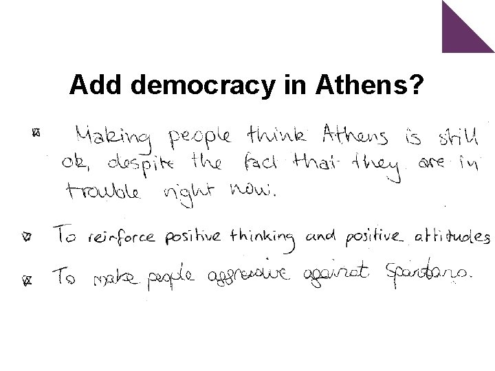 Add democracy in Athens?