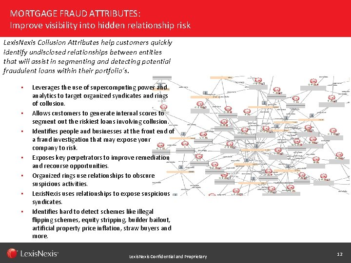 MORTGAGE FRAUD ATTRIBUTES: Improve visibility into hidden relationship risk Lexis. Nexis Collusion Attributes help