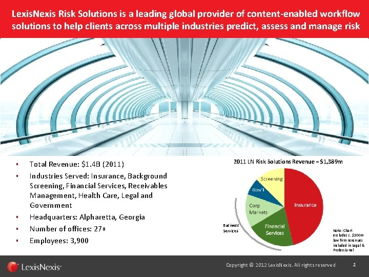 Lexis. Nexis Risk Solutions is a leading global provider of content-enabled workflow solutions to